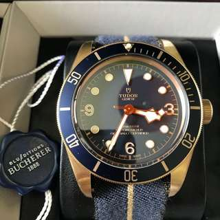 Tudor 79250BB Black Bay Heritage Bucherer Blue