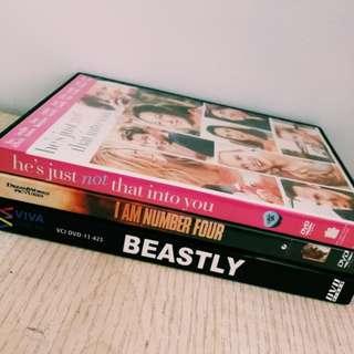 3 Original DVDs for PHP 250.00