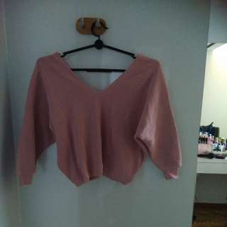 Pink & red knit top