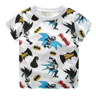 JB018 New Boys Batman Tee T-shirt Top 18M 2T 3T 4T 5T 6T
