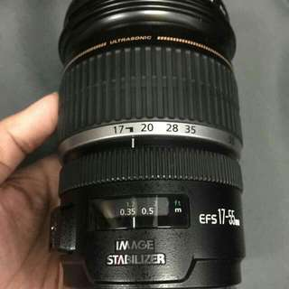 canon lens for apsc sensor 17 to55 2.8 Is...
