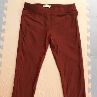 彈性 修身內搭褲 彈力褲 長褲 A0012