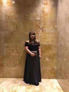 Plus Size Black Gown :)