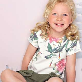 LM042 Girls Floral Tee