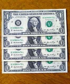 美元$1.全新直版