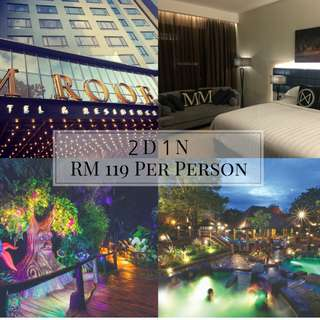 2D1N M Roof Hotel & Residences + Lost World Night Park Package