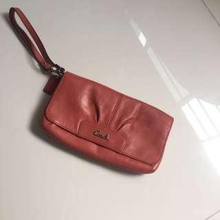 Coach Leather Wristlet Wallet