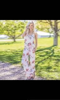Floral loose jumpsuit