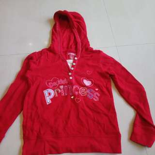 5YO Sparkly Red Hoodie