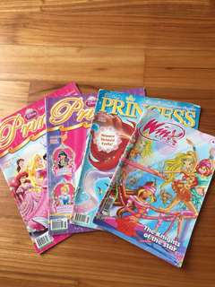 Winx club and Disneyland princess magazines
