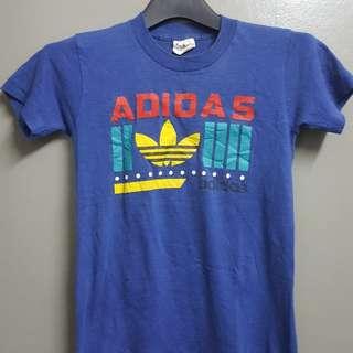 Vintage 80s Adidas Colour 50/50 Tshirt Boy