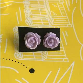BN Rose earrings (light greyish purple or lilac)