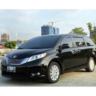2010年 豐田 SIENNA  LIMITED 3.5L 七人座 深鐵灰色 車況優 資料齊全 一手車 美國原裝進口~