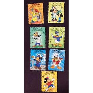 迪士尼郵票全新
