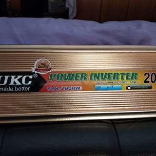 Power inverter and strobe disco lights