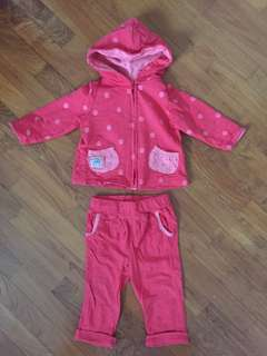 Baby Set Pants and Hoodie Jacket / Sweater