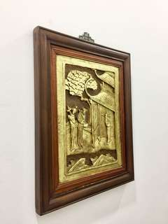 Antique Chinese Wood Cut Panel