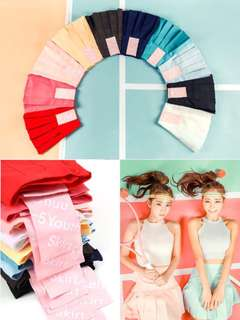 🔥 [INSTOCK] CHUU Korean Ulzzang Pleated Candy Colours High Quality Tennis Skirt