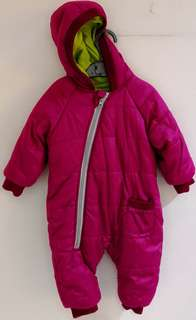 Baby Winter Zipper Hoodie Snowsuit Jumpsuit Pink