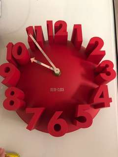 紅色掛牆鐘