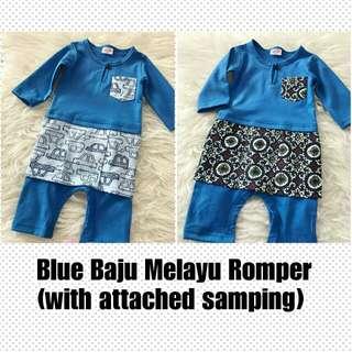 BN Blue Baju Melayu Romper