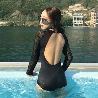 One Piece Korean Swimsuit Swimwear