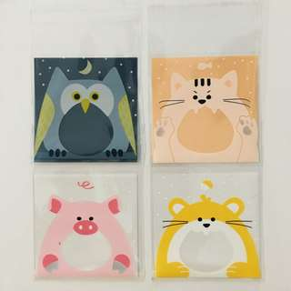 Self Adhesive Cookie Wrapper - Animals