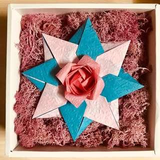 摺紙玫瑰禮盒