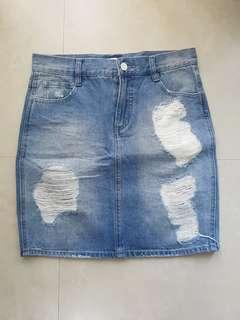 Forever 21 Ripped Skirt