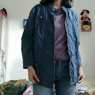 Blue jacket made in korea