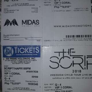 Script VIP tickets Sale 2pcs avail