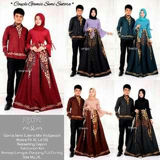 Gamis Muslimah Set Couple