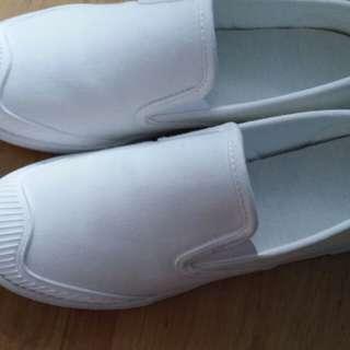 💜白色帆布鞋💜