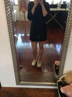 🚚 Zara深藍連身洋裝(褲裙)