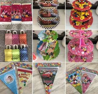 Children birthday party goodies gift, goody bag, decorations