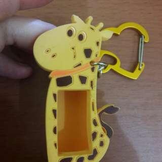 Gantungan Tas Jelly Karakter Warna Kuning Bs Utk Minyak Angin
