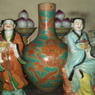 清乾隆孔雀绿釉矾红龍天球瓶86218574