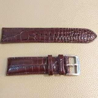 真皮錶帶leather watch band 22mm 啡色