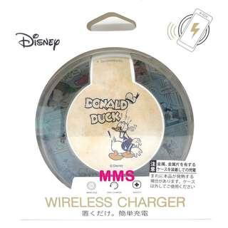 日本直送 迪士尼 Donald 唐老鴨 iPhoneX samsung s8 無線充電座 無線充電器 無線充電板
