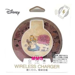 日本直送 迪士尼 Alice 愛麗絲 iPhoneX samsung s8 無線充電器 無線充電座 無線充電板