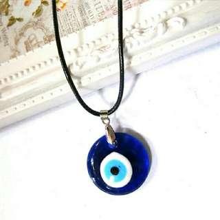 Black Cord With Evil Eye Pendant