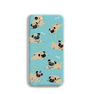 (香港本地平郵免運) 巴哥犬 八哥犬 磨砂 手機殼 硬殼 保護殼 保護套 iPhone X 8+ 7 6 S8