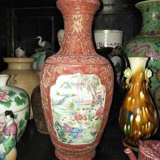 清粉彩花瓶86218574
