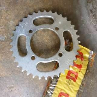 Rxk sprocket & DID Chain