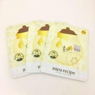 [3 pcs] Papa Recipe Bombee Honey Mask Masker Wajah Facial Korea