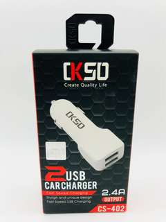 CK50 2 Port Car Charger Free Postage!