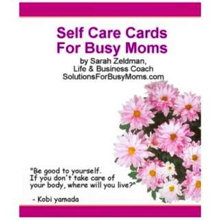Self-Care Cards For Busy Moms eBook