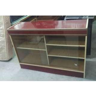 Low Cabinet Sliding Glass Door (L120 x D38 x H84 cm) * L14 M