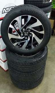 "Sport rims and tyres16"", from new car,cach and cary."