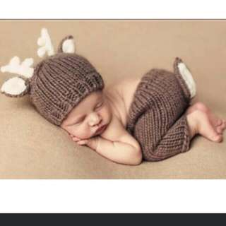 Reindeer Newborn Photoshoot Outfit